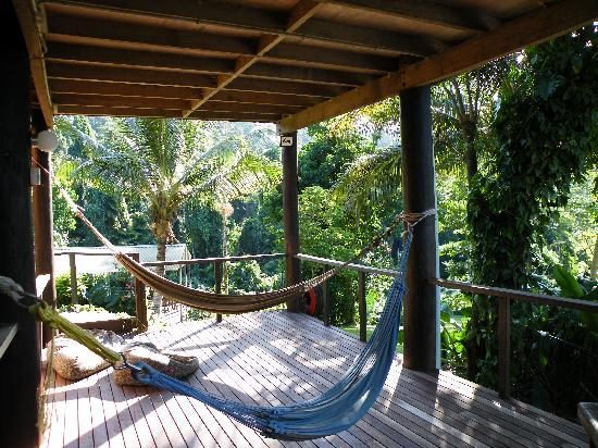 Treehouse Hostel: Hammocks for lazy days....