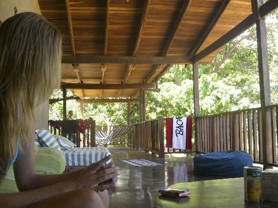 Cafe Playa Negra: The upstairs living area