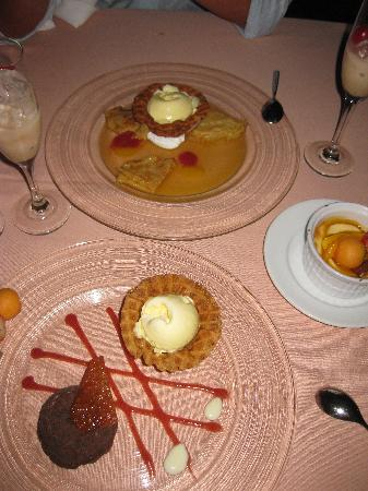 Desserts from French Restaurant