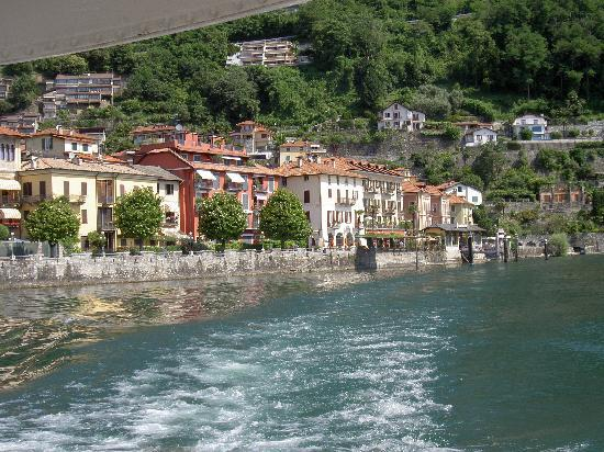 Hotel Cannero: The Lake Front Hotel from a boat