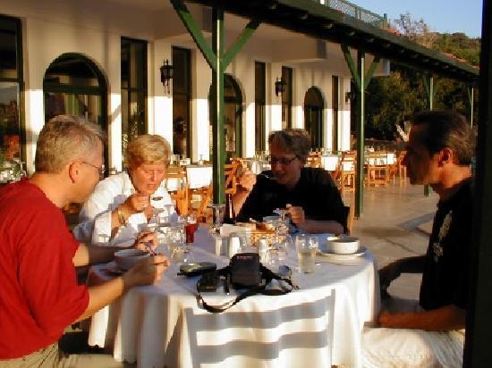 Dining in the sun, Arpia Hotel, Kas, Turkey