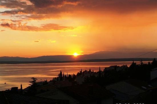 Sonnenuntergang in Selce