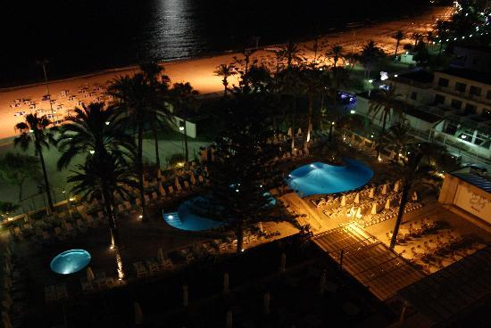 SENTIDO Playa del Moro: Night time from our balcony