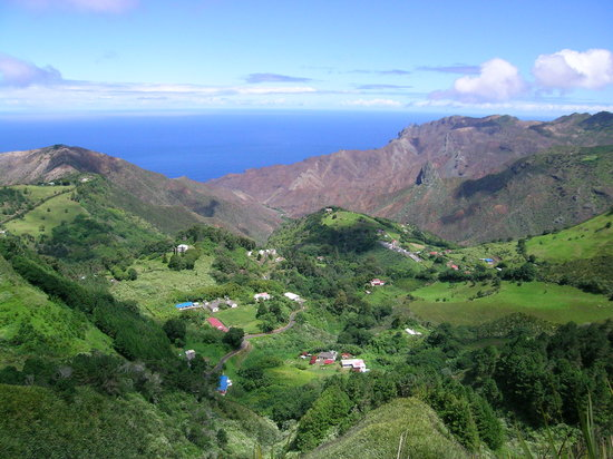 St Helena, Ascension and Tristan da Cunha: Sandy Bay from the Peak