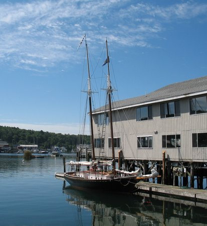 Boothbay Harbor, ME: Schooner Lazy Jack docked at pier