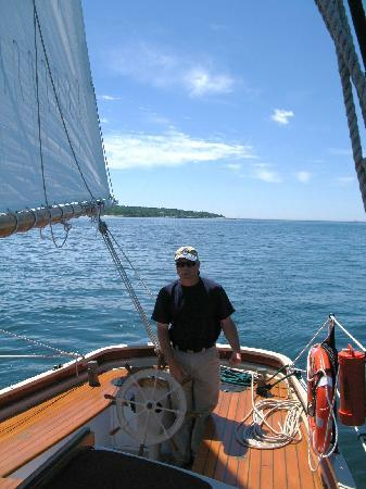 Boothbay Harbor, ME: Captain Joe at the helm