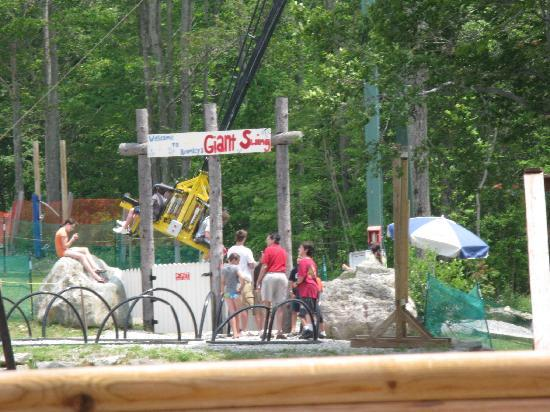 Bromley Mountain: the giant swing