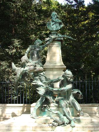 Paris, France: park fountain