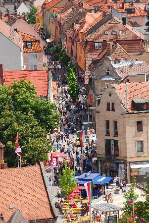 Blick auf die Innenstadt von Zirndorf