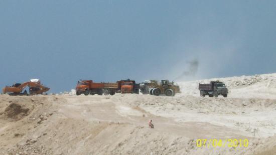 The Royal Savoy Sharm El Sheikh : Here come the trucks!