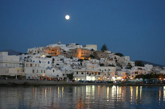 Náxos, Griekenland: Full Moon over Naxos