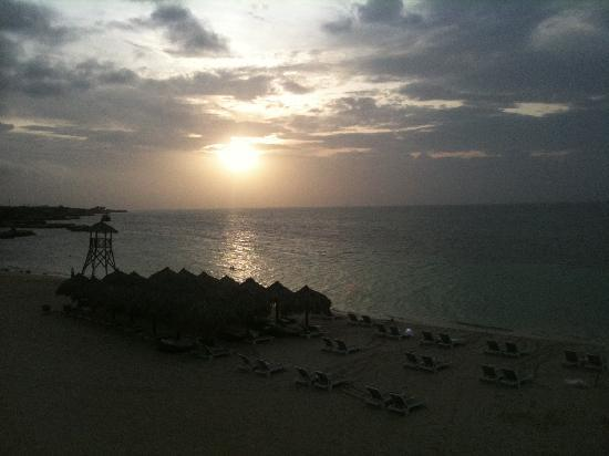 Iberostar Grand Hotel Rose Hall: sunset from the balcony swing