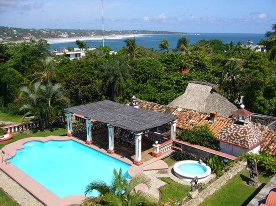 Hotel Paraiso Escondido: Vista de la bahía de Puerto Escondido
