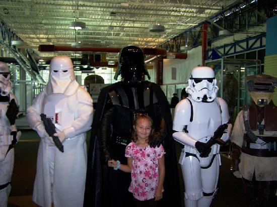 U.S. Space and Rocket Center: My neice with Darth Vader
