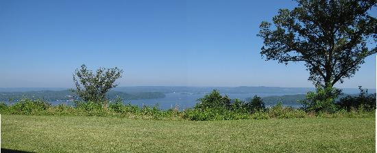 Guntersville, AL: View from the veranda of our room.
