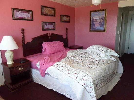 Americas Best Value Port Polson Inn: our nice pink room