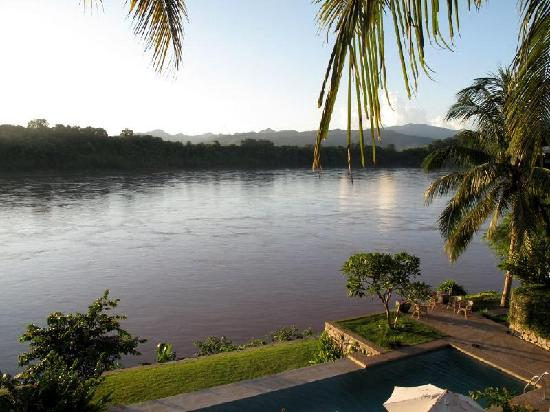 Mekong Estate: the pool and the river