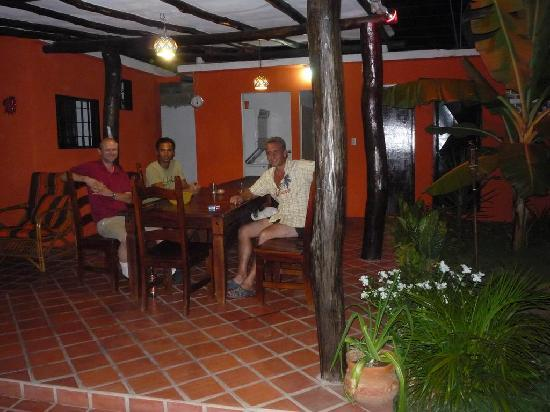 Posada Casa Rosa: Lounging on the porch