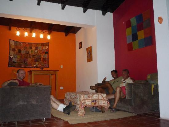 Posada Casa Rosa: The lobby area