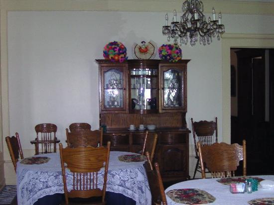 Bullis House Inn: das Esszimmer