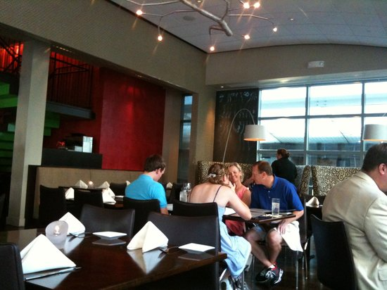 Via Vite: The inside...great decor but you can't eat the light fixtures!