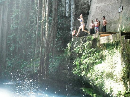 Iberostar Tucan Hotel : Jumping into a sinkhole