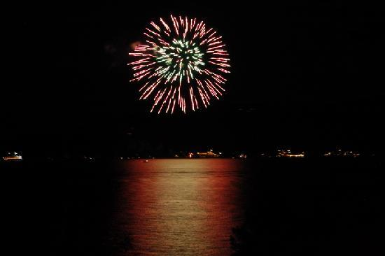 Depe Dene Resort: view right from our deck for 4th of july fireworks