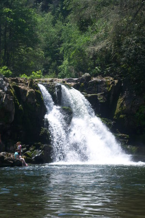 Great Smoky Mountains National Park, เทนเนสซี: Waterfall at Abrams Falls