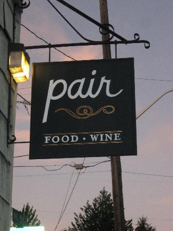 Pair: The restaurant sign