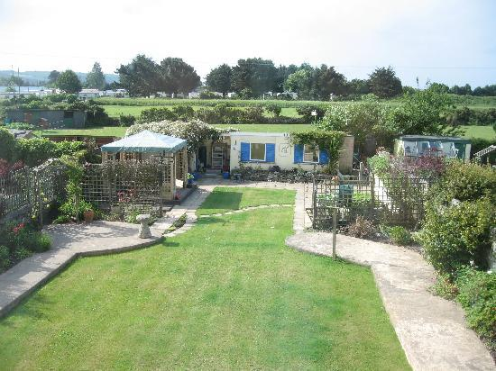 Par, UK: View of the garden.