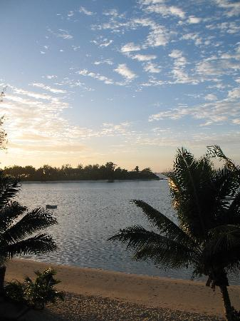 Morning view Muri Lagoon  from villa