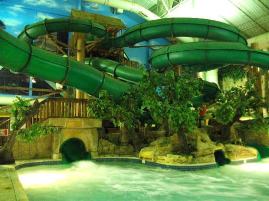 Indoor Waterslides Picture Of Mt Olympus Resort
