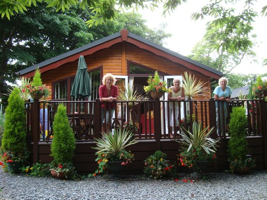 Killigarth Manor Holiday Park : The holiday lodge exterior