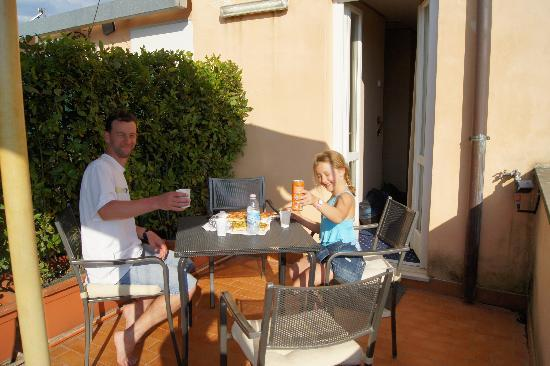 Hotel Diocleziano : Pizza for tea after a busy day sightseeing