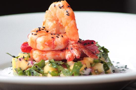 Worthing, UK: Chilli and Ginger Prawns, Mango Salad, Lemongrass & Coconut Foam
