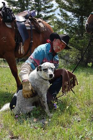 Big Bar Guest Ranch: Cowboy Dave & Appy the dog