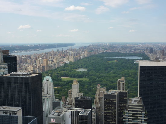 Plate-forme d'observation du GE Building : View from  Top of the Rock with Central Park