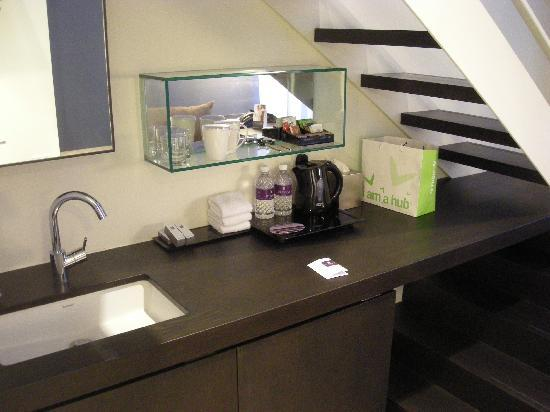 Hotel Room Pantry Area With Basic Amenities Picture Of Studio M