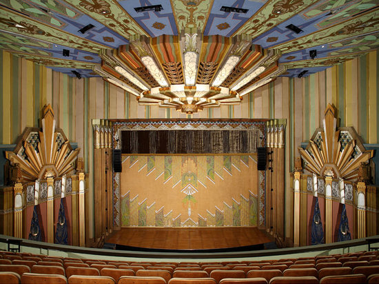 Spokane, Etat de Washington : The interior of the restored Fox Theater