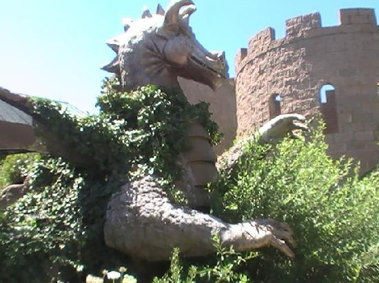 Dragon and castle in kids garden Picture of Albuquerque