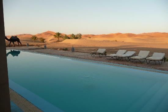 Hotel Kasbah Kanz Erremal : Dream view of the pool at sunset