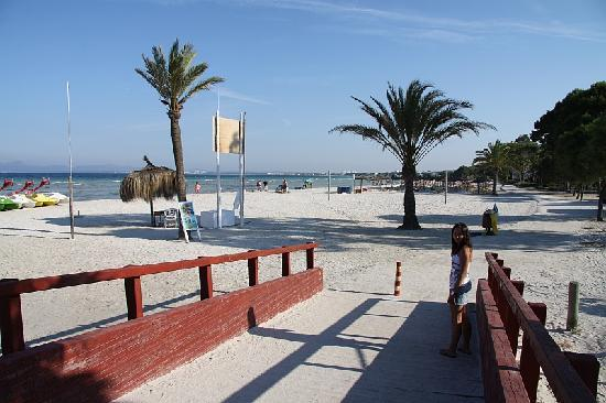 Hotel Roc Boccaccio: Beach infront of beach bar