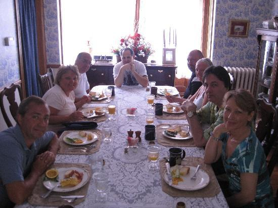 Beauclaire's Bed and Breakfast: Breakfast - Joe got to join us this morning