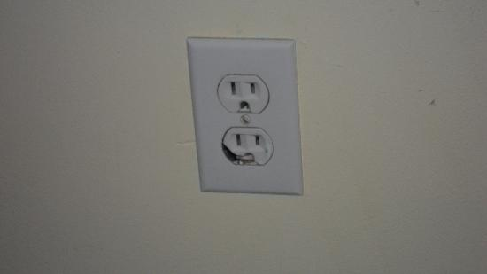 Lighthouse Court Hotel in Key West: Safe outlet?? Glad I didn't need to plug anything in