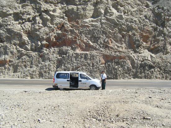 Nazca, Peru: Van on  the way