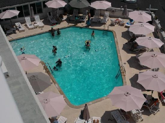 Marquis De Lafayette Hotel: view of the pool from our room
