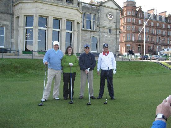 Braeside House: St Andrews Golf group - with our Host James Yule