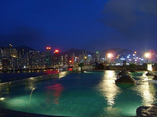 Harbour Grand Kowloon: View from pool atop the hotel