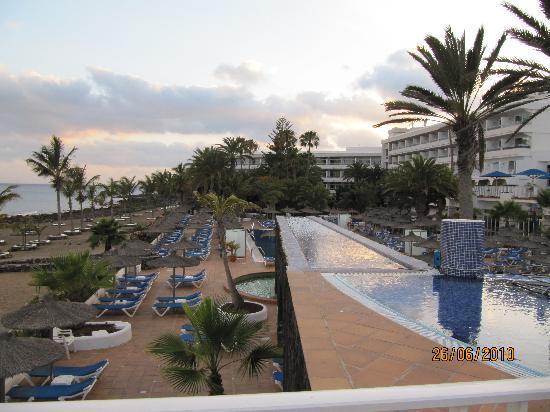 VIK Hotel San Antonio : from top pool overlooking beach and salt water pool area