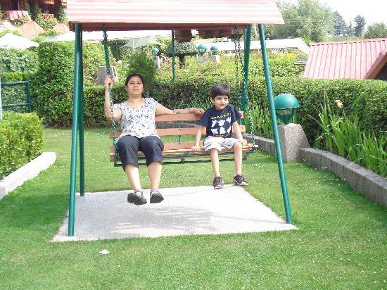 White Meadows - Manali: swinging in the children park